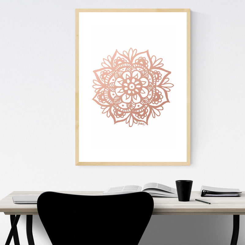 Mandala India Bohemian Design Framed Art Print