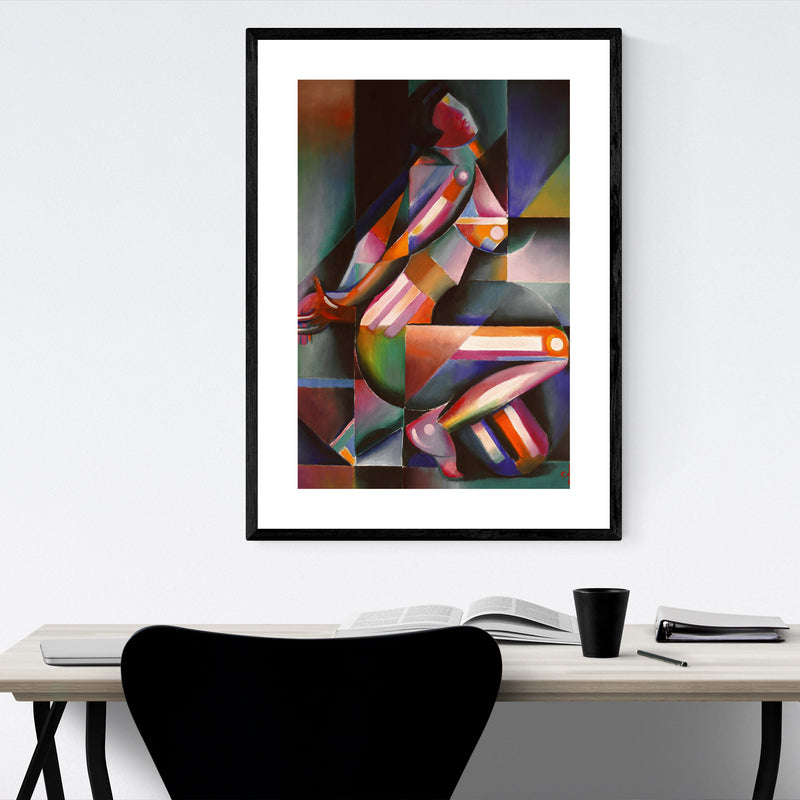 Nude Figurative Abstract Painting Framed Art Print
