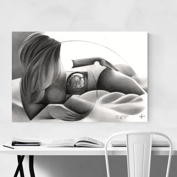 Nude Figurative Abstract Drawing Art Print
