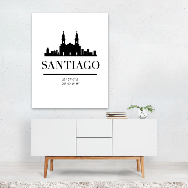 Santiago Chile Skyline Art Print