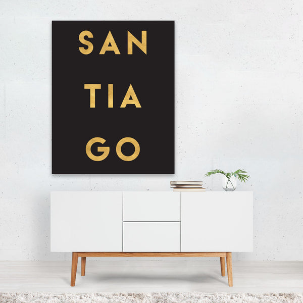 Santiago Chile Urban Typography Art Print