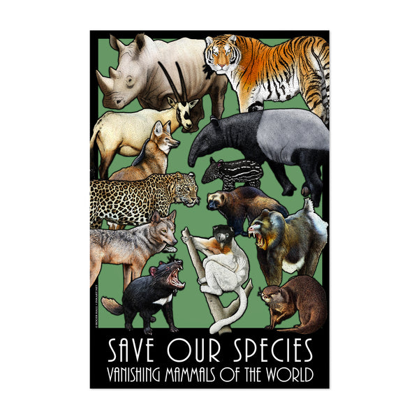 Endangered Species Animals Art Print