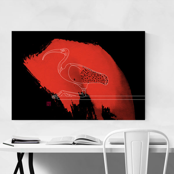 Ibis Bird Animal Illustration Art Print