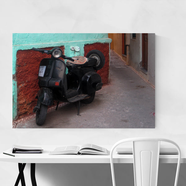 Scooter India Street Scenes Urban Art Print