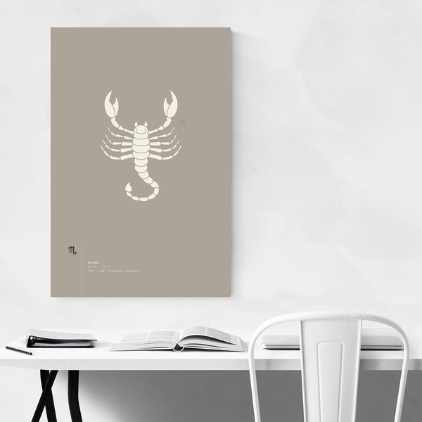 Scorpio Star Sign Astrology Minimal Art Print