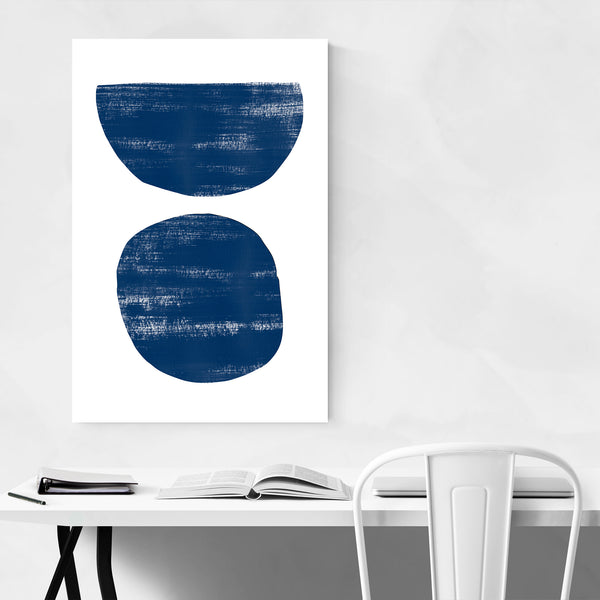 Abstract Distressed Blue Painting Art Print
