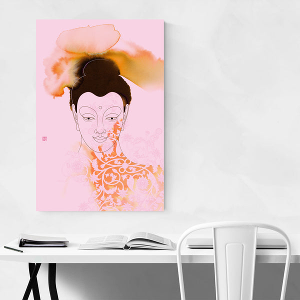 Gautama Buddha Illustration Art Print