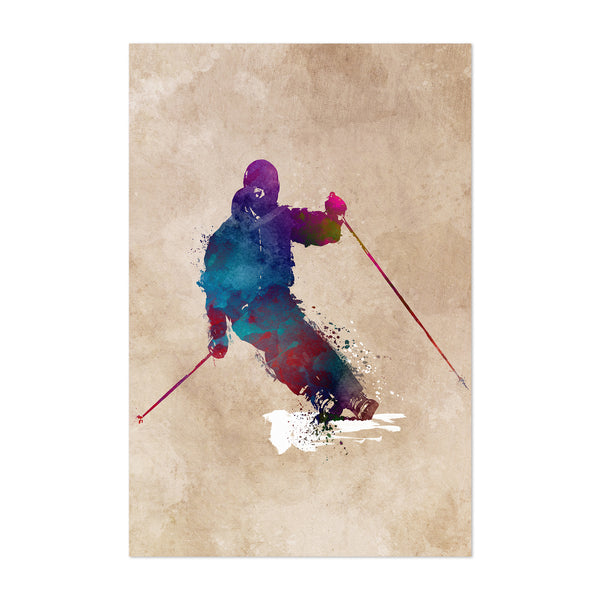 Skiing Skier Gift Winter Sports Art Print