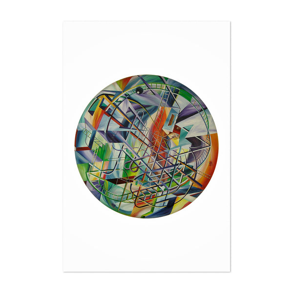 Abstract Lines Painting Art Print