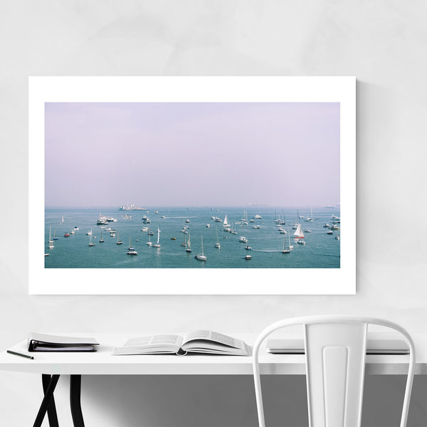 Mumbai India Boating Sailing Nautical Art Print