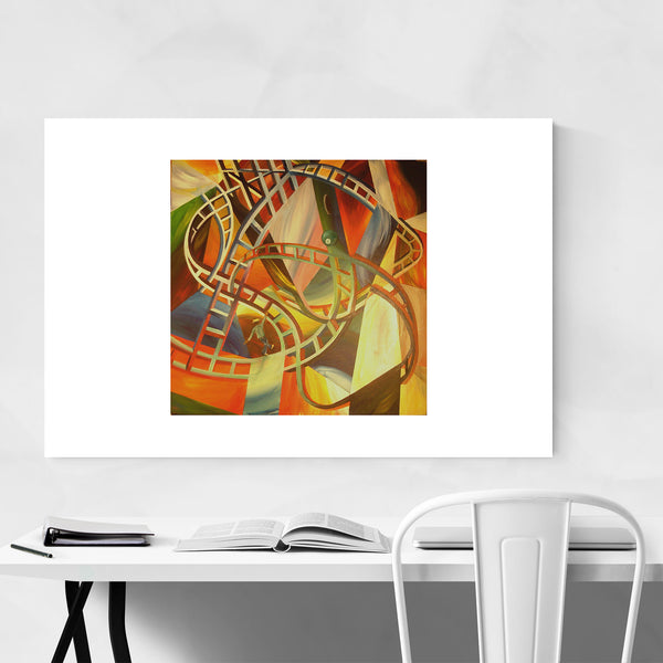 Abstract Colorful Lines Shapes Art Print