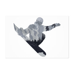 Snowboarding Gift Nature Sports Art Print