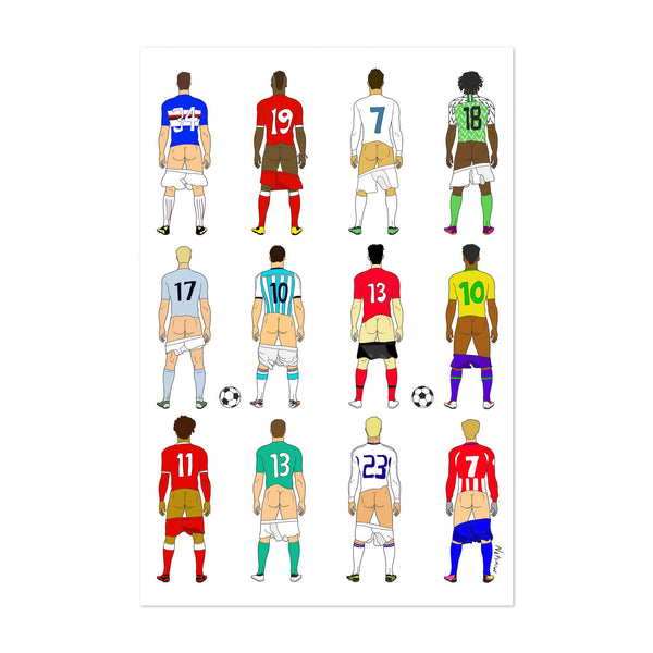 Humor Figurative Sports Soccer Art Print
