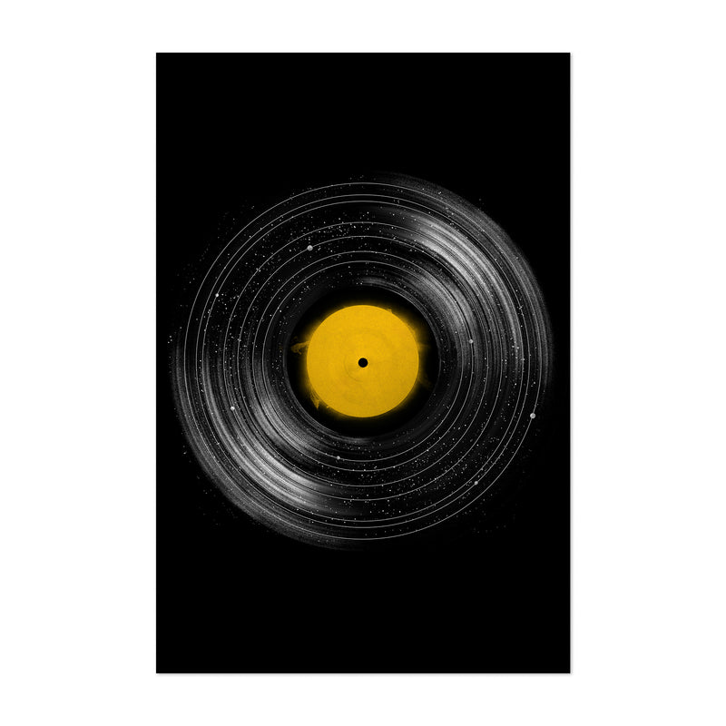 Music Space Solar System Art Print