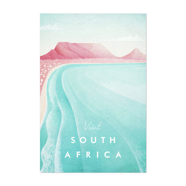 South Africa Retro Travel Poster Art Print