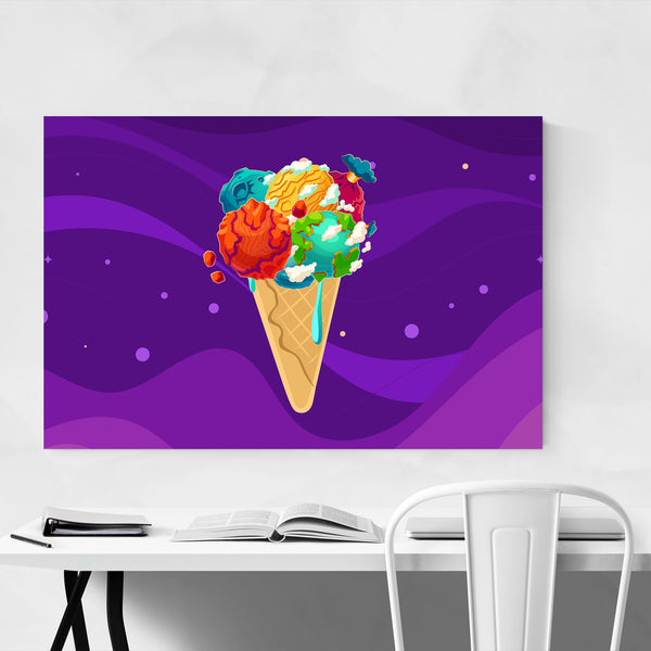 Ice Cream Food Dessert Kitchen Art Print