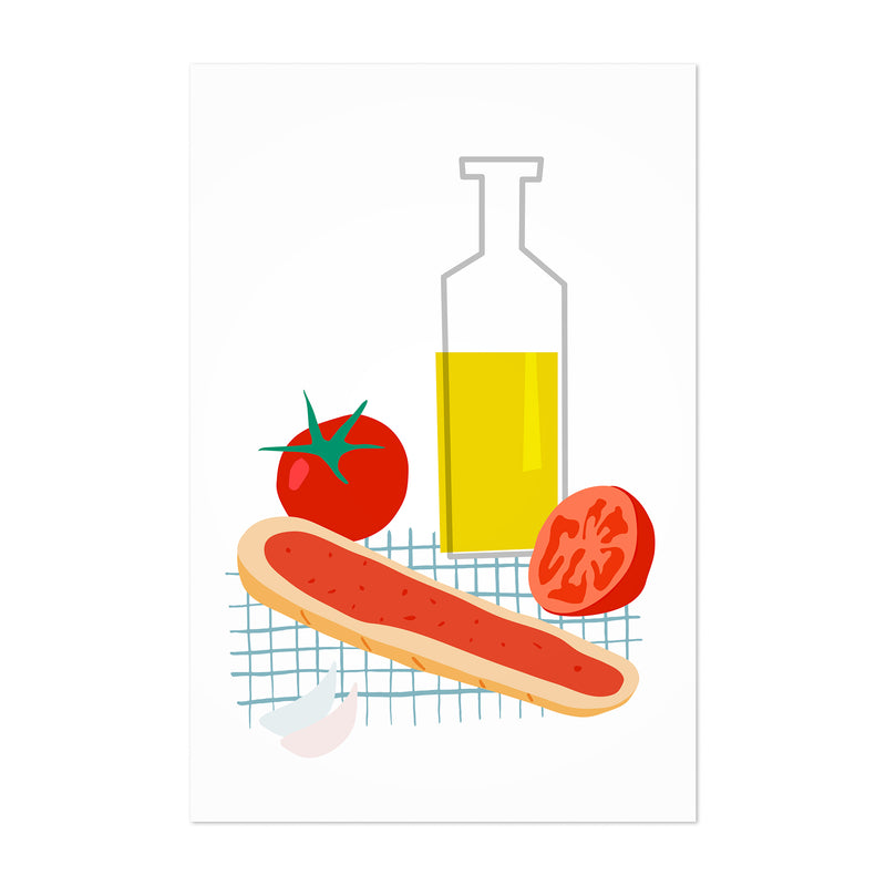 Tomato Olive Oil Bread Kitchen Art Print