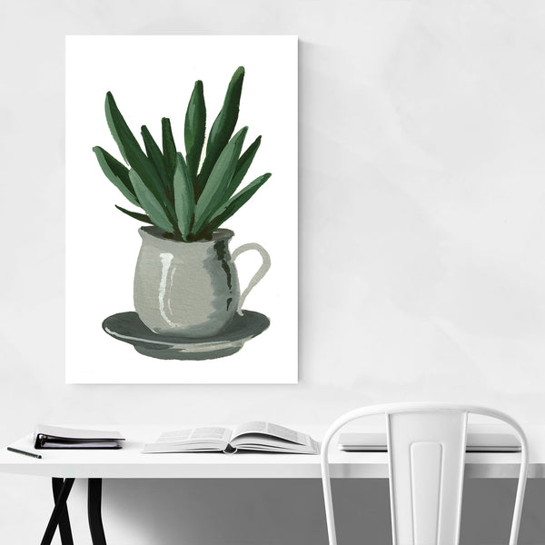 Aloe Floral Botanical Painting Art Print