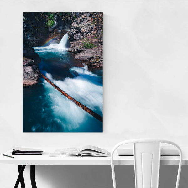 St Mary's Falls Glacier National Park Art Print