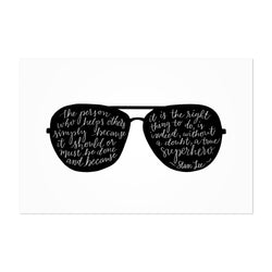 Inspirational Quote Typography Art Print Poster Framed Wall