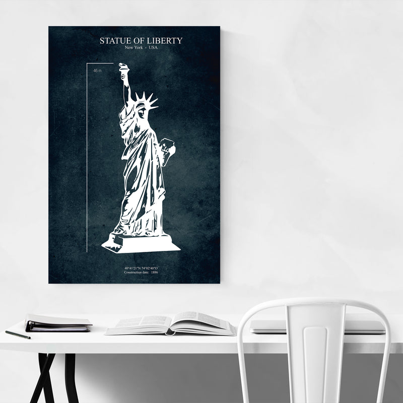 Statue of Liberty NYC Patent Print Art Print
