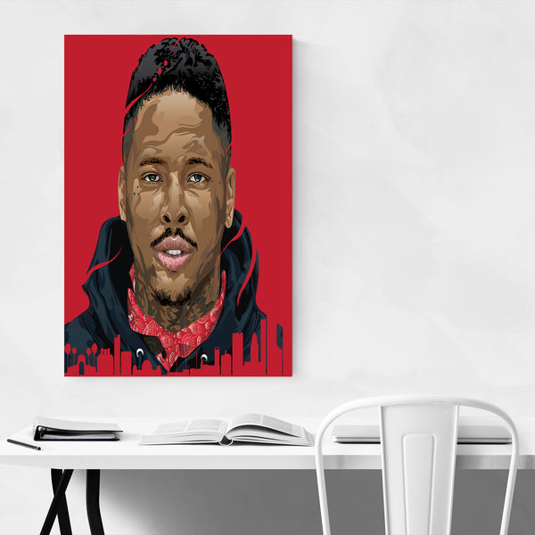 YG Portrait Rap Music Hip Hop Art Print