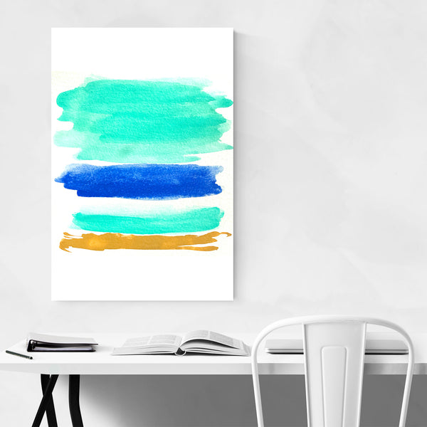 Summer Colors Abstract Painting Art Print