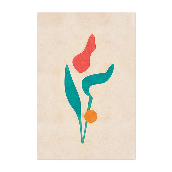 Minimal Floral Botanical Abstract Art Print