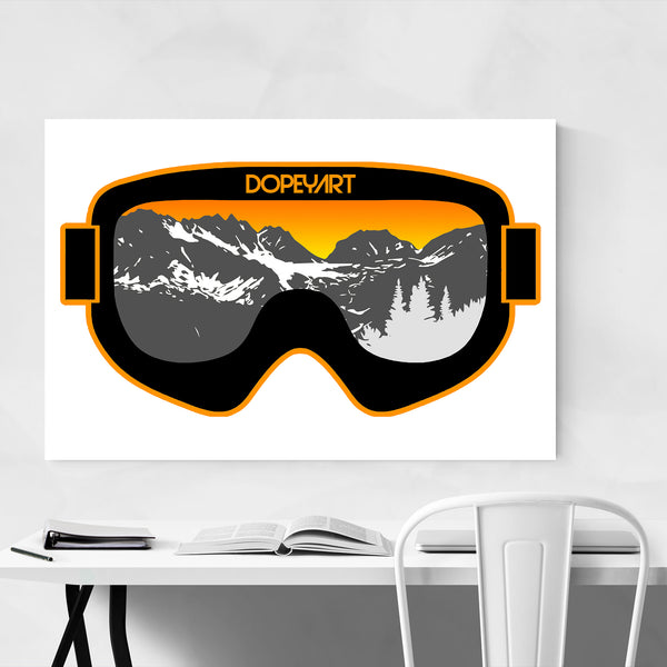 Skiing Gift Mountains Nature Art Print