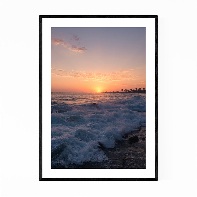 Pacific Ocean Waves California Framed Art Print