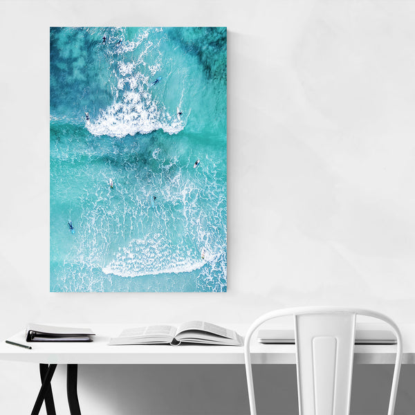 Vazon Bay Guernsey Aerial Beach Art Print