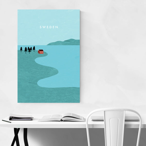Sweden Vintage Travel Art Print