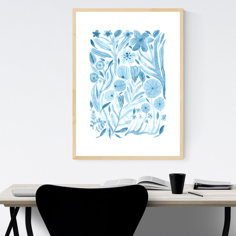 Floral Botanical Illustration Framed Art Print