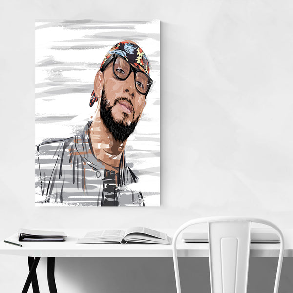 Swizz Beatz Portrait Rap Music Art Print