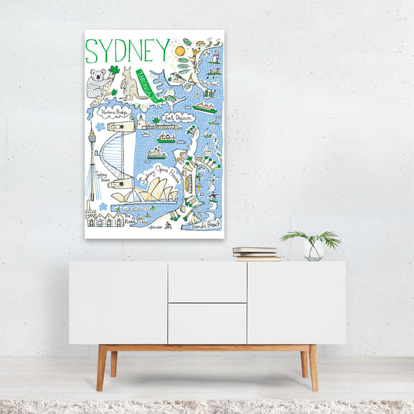 Sydney Travel Poster Art Print