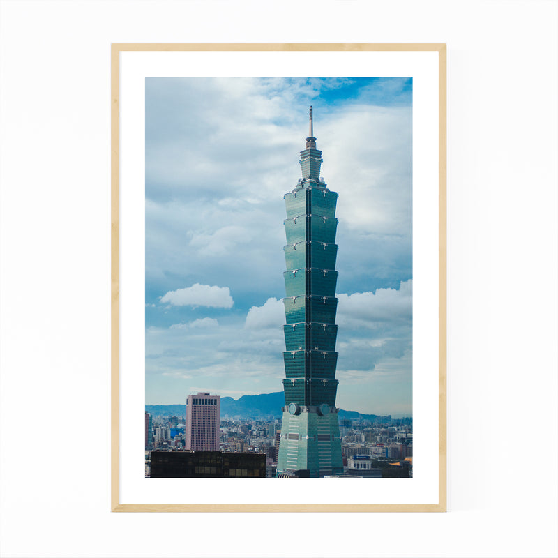 Taipei Taiwan Urban Photography Framed Art Print