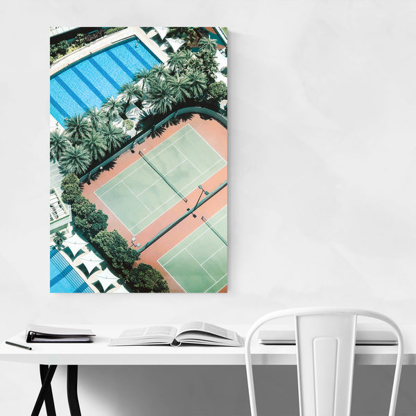 Tennis Courts Rooftop Singapore Art Print
