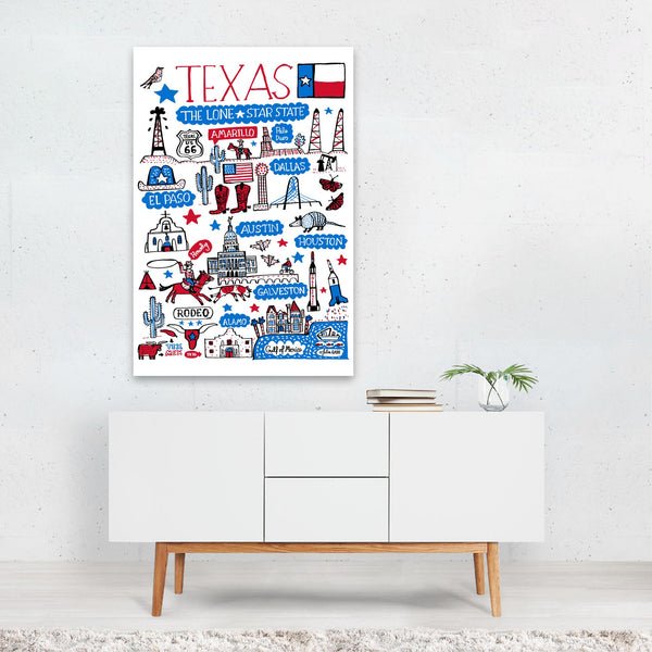Texas Travel Poster Art Print
