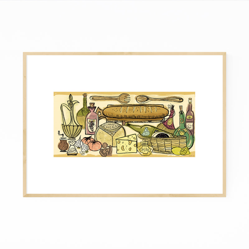 Cooking Food Kitchen Gift Framed Art Print