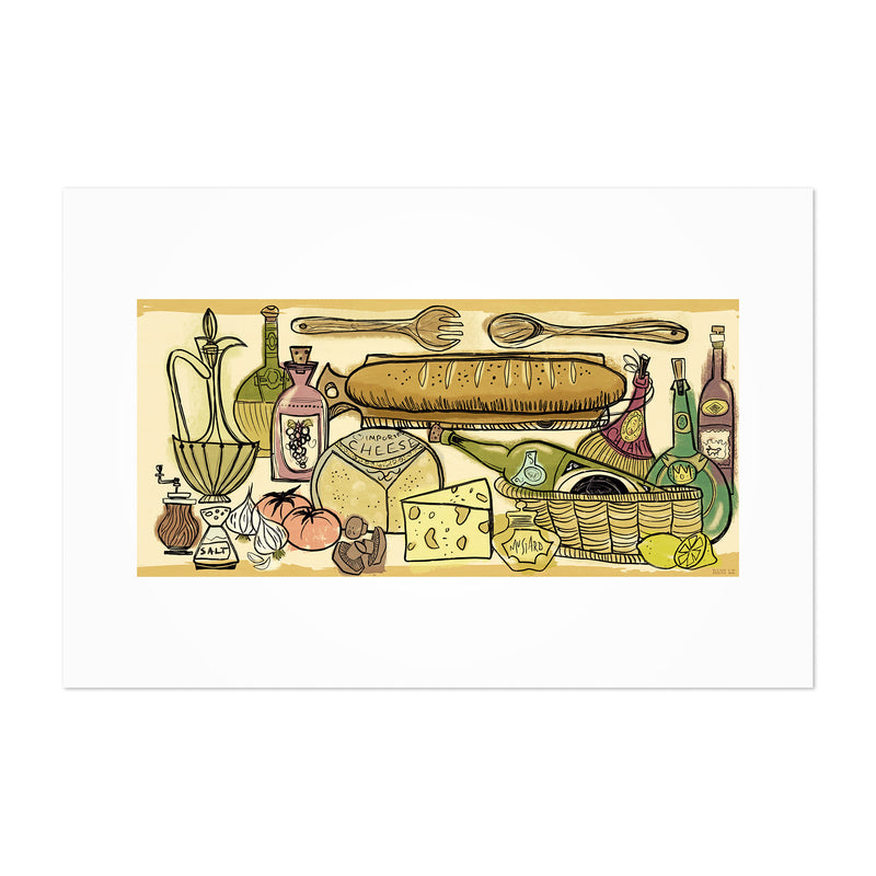 Cooking Food Kitchen Gift Art Print