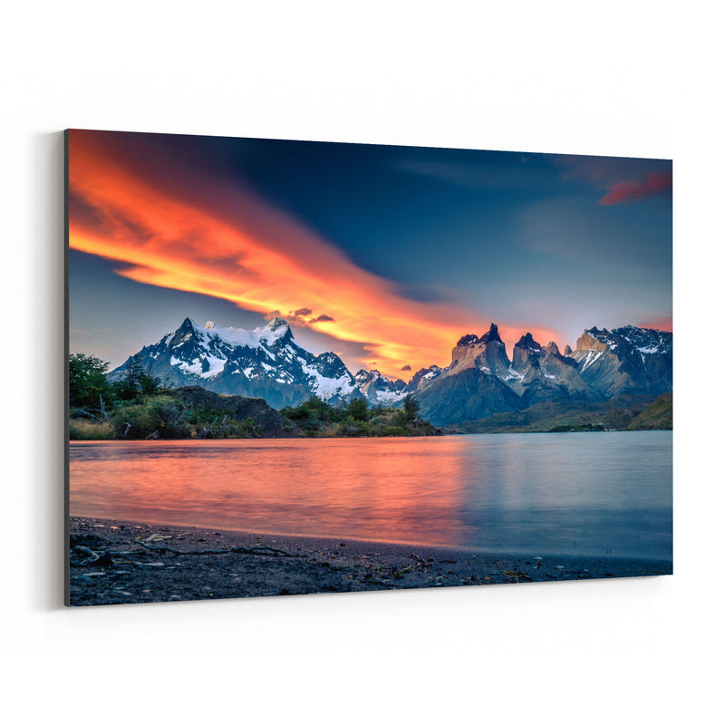 Torres del Paine Patagonia Chile Canvas Art Print