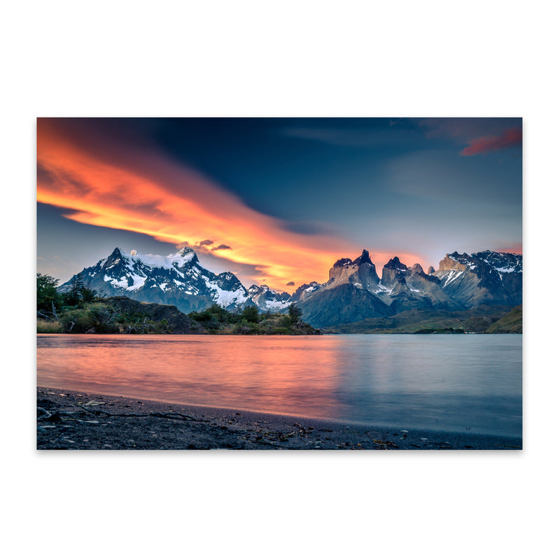 Torres del Paine Patagonia Chile Metal Art Print