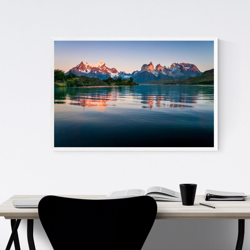 Torres del Paine Patagonia Chile Framed Art Print