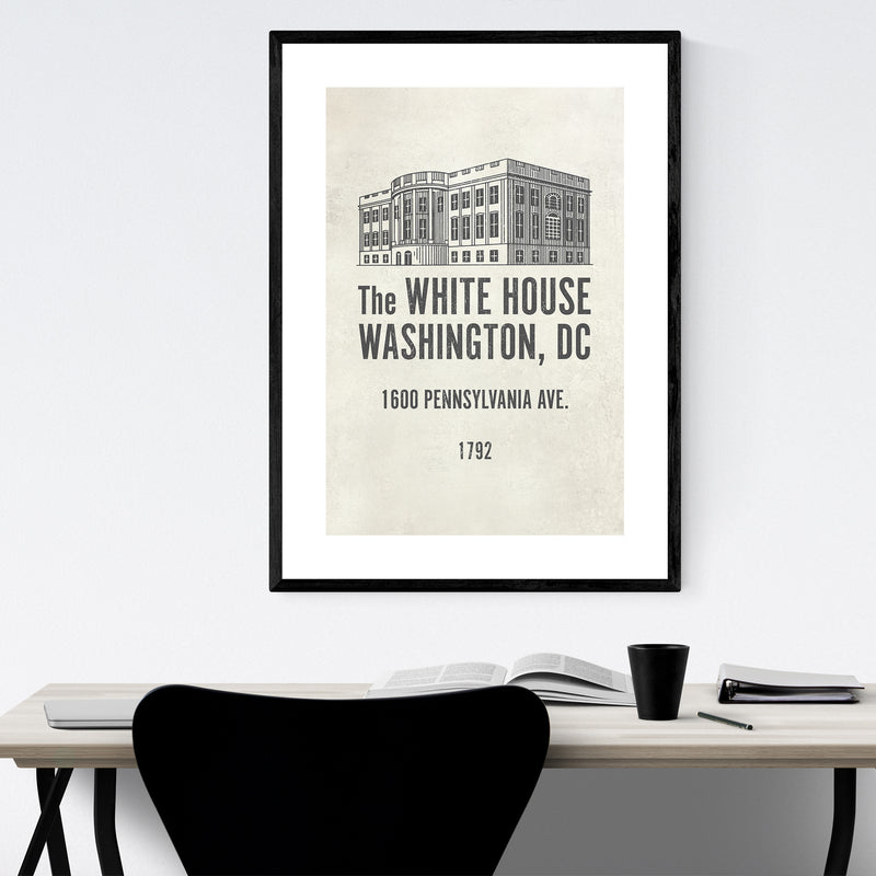 White House Washington DC Framed Art Print