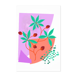 Abstract Plant Floral Botanical Art Print
