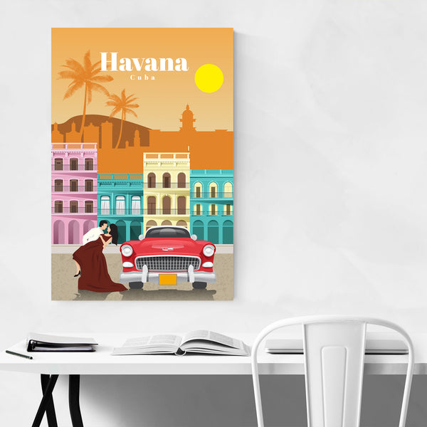 Havana Cuba Retro Travel Poster Art Print
