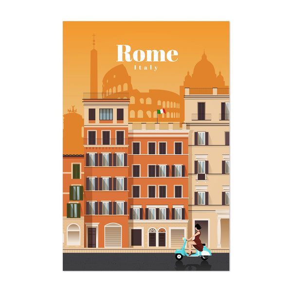 Rome Italy Retro Travel Poster Art Print