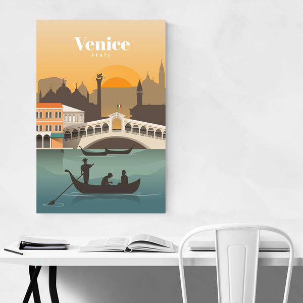Venice Italy Retro Travel Poster Art Print