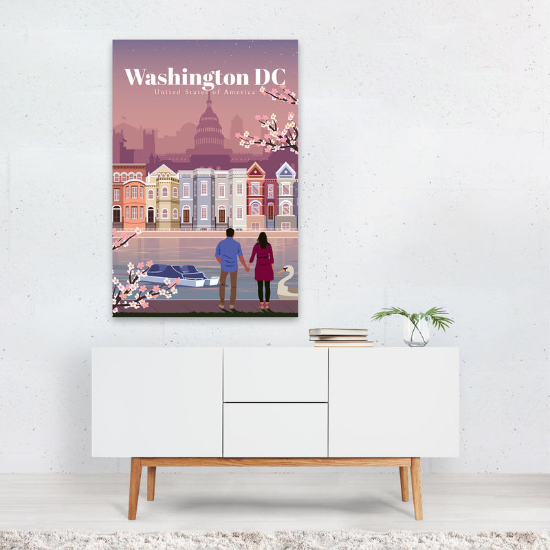 Washington DC Skyline Travel Art Print