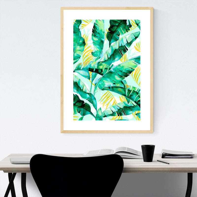 Tropical Floral Botanical Nature Framed Art Print